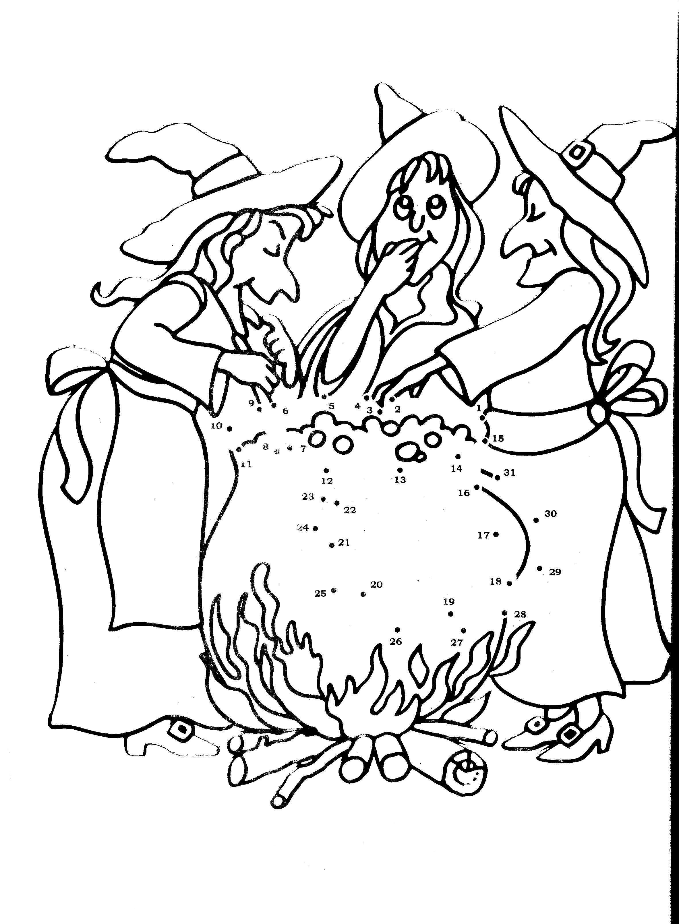 Witches Again Concocting Potions