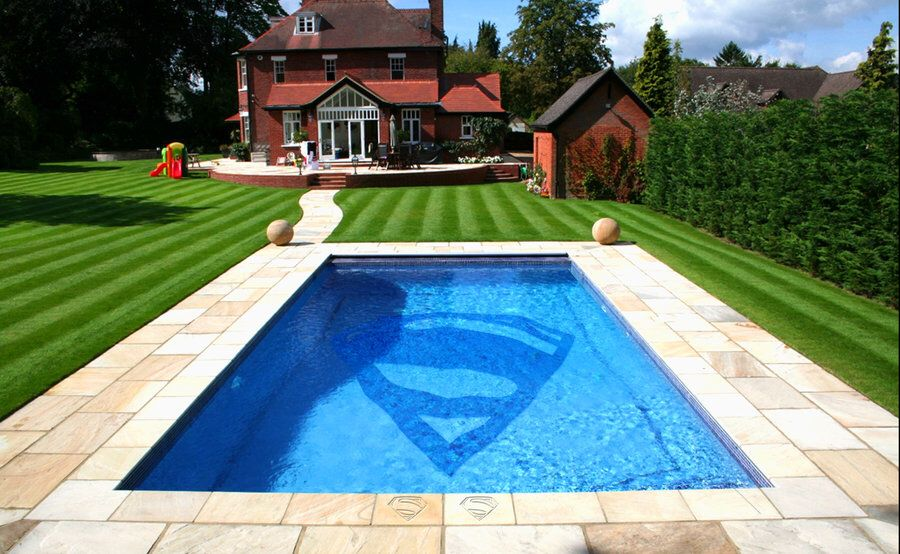 Affordable Pool Landscaping Ideas superman pool | amazing swimming pools | pinterest