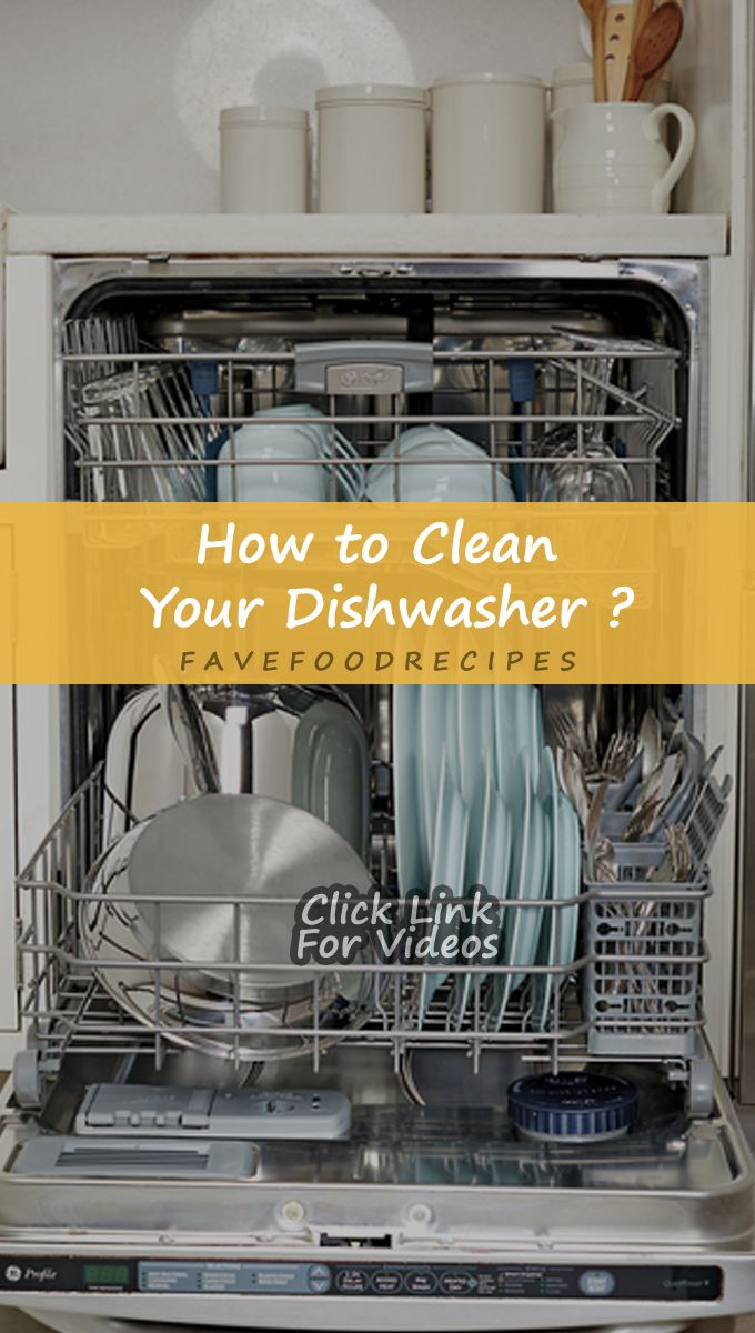 How to Clean Your Dishwasher ? Diy food recipes