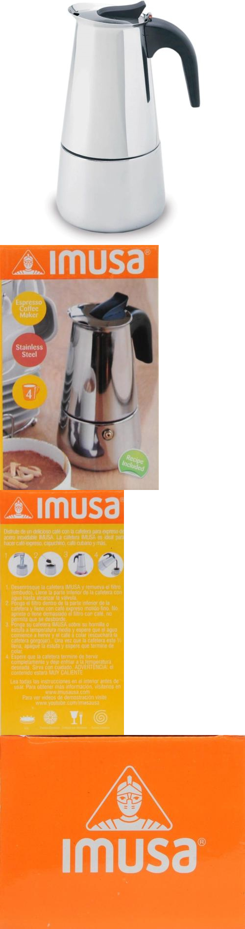 Percolators and moka pots imusa cup stainless steel