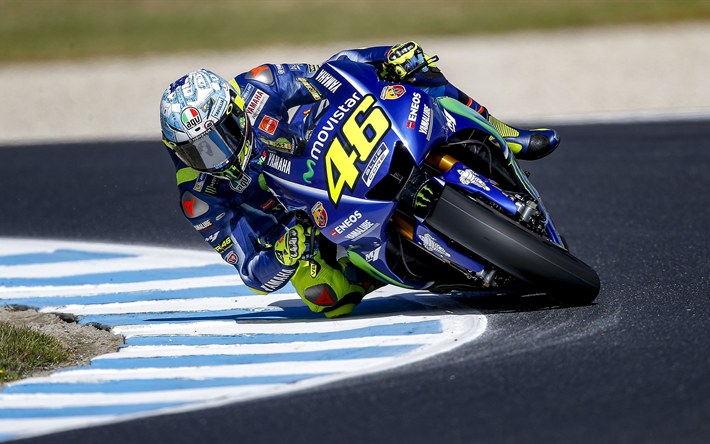 Download Wallpapers Valentino Rossi 2017 Yamaha Yzr M1 Movistar