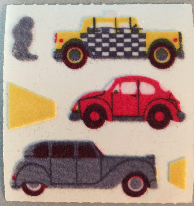 Sandylion Fuzzy Cars Taxi Volkswagen Beetle Bentley Retro Rare Vintage Fm088 Fuzzy Stickers Sticker Art Sticker Patches [ 1500 x 1412 Pixel ]