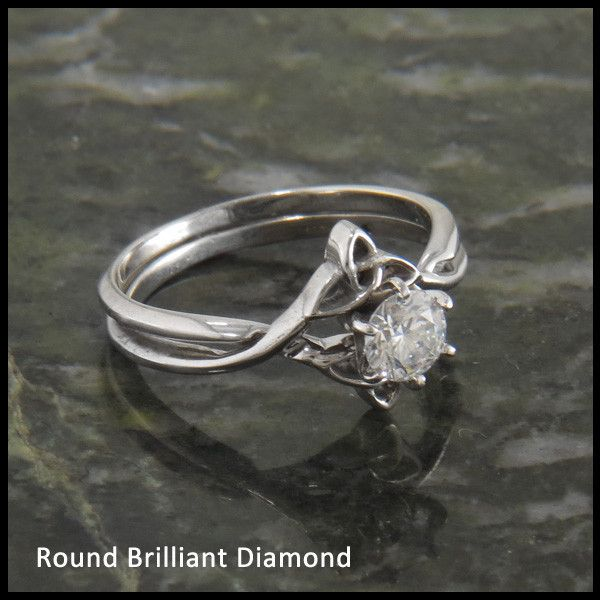 Handcrafted 14K Gold Celtic Engagement Ring Jewelry Created By Stephen Walker Inspired Irish