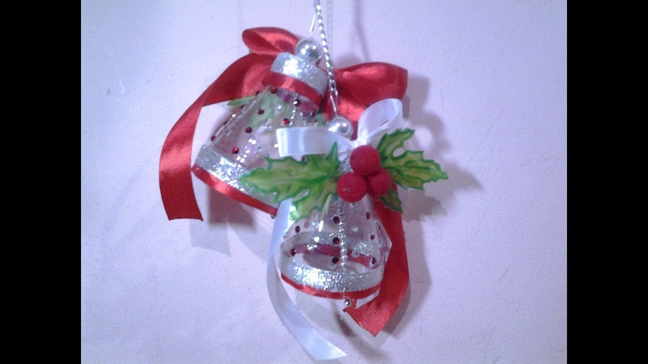 Best out of waste plastic bottles lovely christmas bells for Craft using waste bottles
