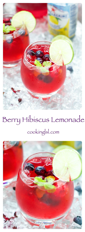 Berry Hibiscus Iced Tea Lemonade Refresher Recipe Drinks