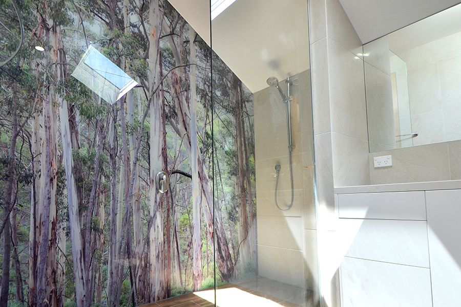 Vivant Glass Printed Glass Shower Wall Panel Forget About
