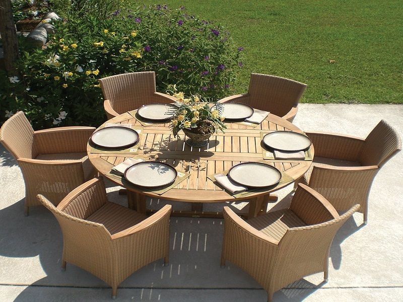 Outdoor Round Dining Table With Expandable Leaves ~ Http://lanewstalk.com/
