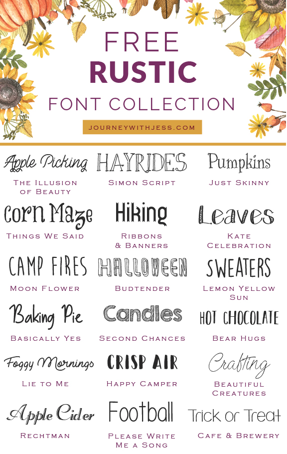Free Font Collection Rustic Fonts in 2020 Rustic font
