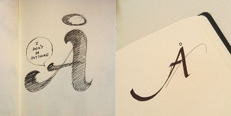 Lettering vs calligraphy letter a g letter project