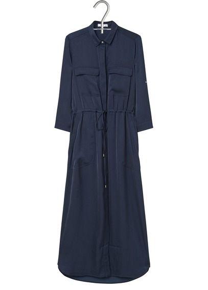 Robe chemise longue fluide
