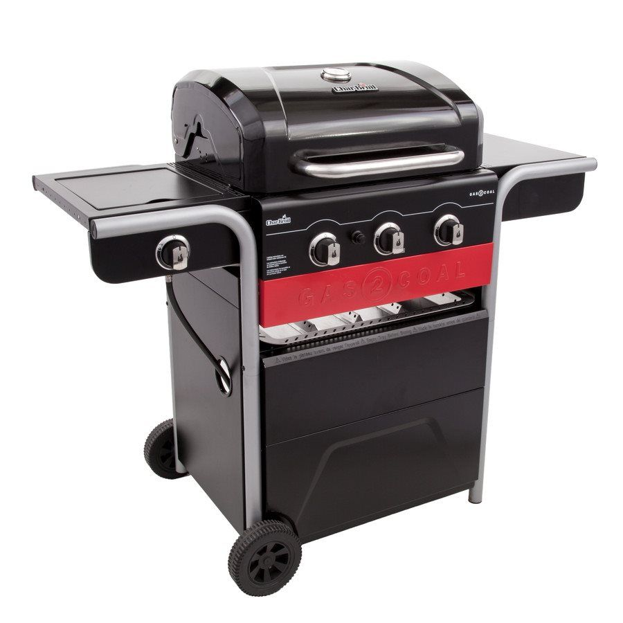 Shop Charbroil Char Broil Gas2coal 3 Burner 40 000 Btu Hybrid Grill With Side Burner 466370516 At Lowe Gas And Charcoal Grill Best Charcoal Grill Gas Grill