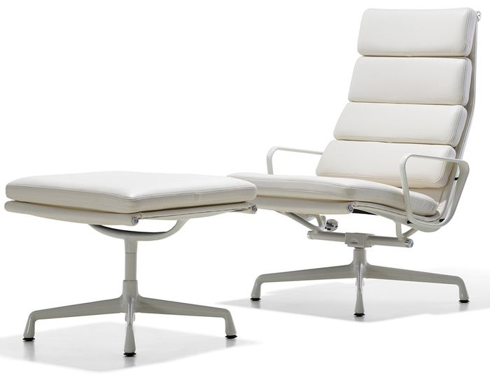 Eames Soft Pad Group Lounge Chair Ottoman Padded Lounge Chair