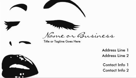 Chic black and white beauty silhouette cosmetology business cards chic black and white beauty silhouette cosmetology business cards httpzazzle colourmoves