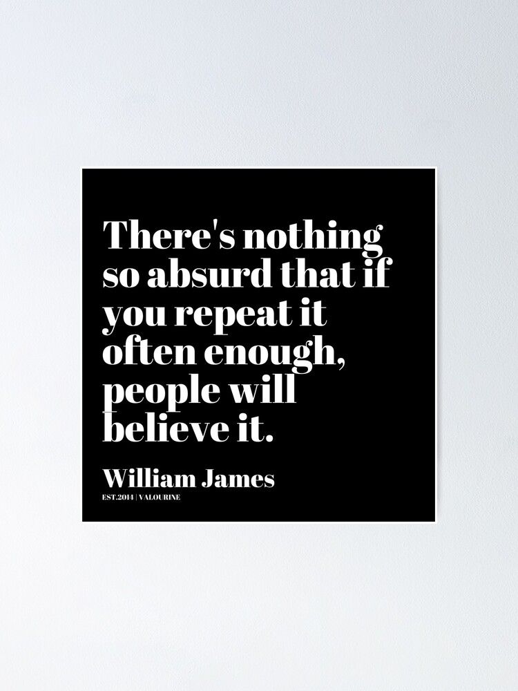 68   | William James Quote| 201025 Father of Psychology Quote  Poster by valourine