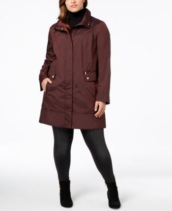 12ef1739ecc0b Cole Haan Signature Plus Size Packable Unlined Raincoat - Purple 2X