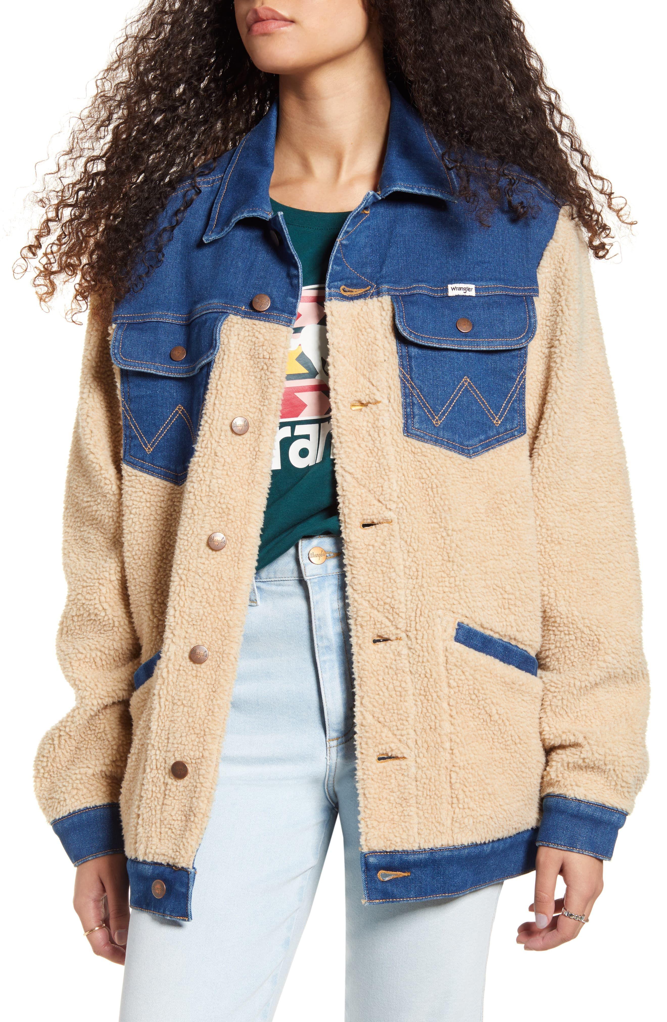 Wrangler Oversized Faux Shearling Denim Jacket Nordstrom Denim Jacket Fashion Denim Jacket Denim Jacket Women [ 4048 x 2640 Pixel ]