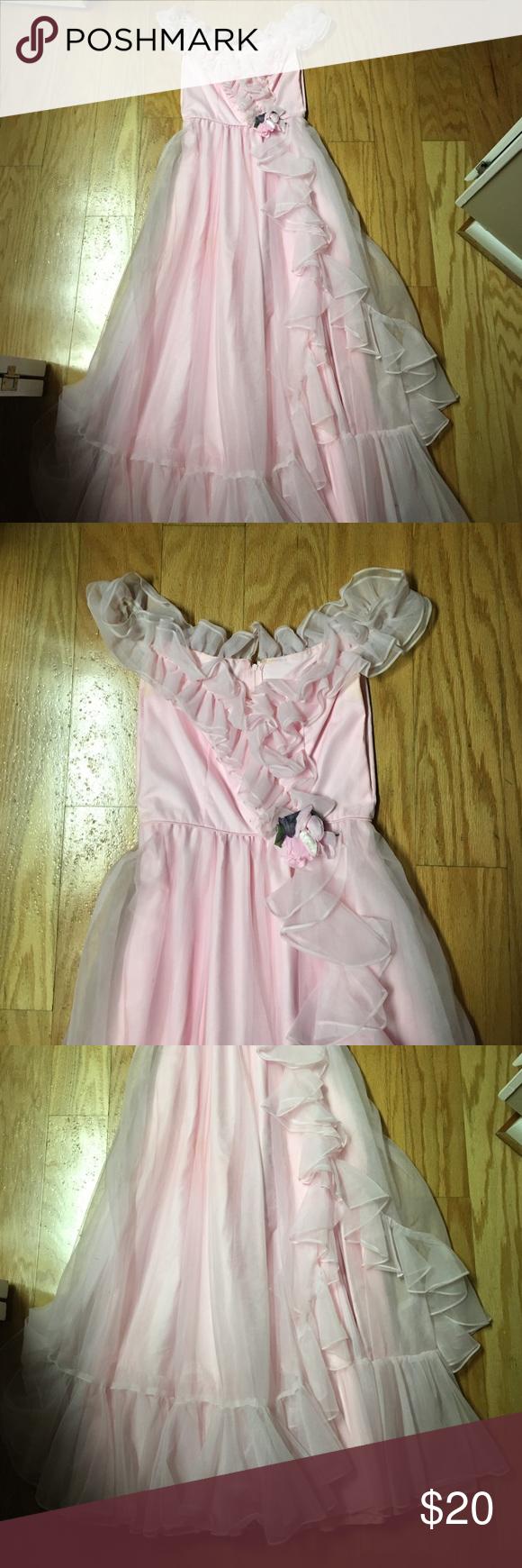 Vintage baby pink formal dress pink formal dresses dress