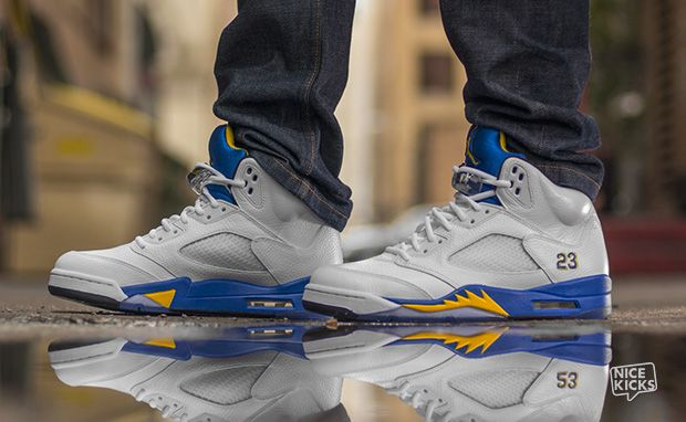 "25b90c1ef23136 On-Foot Look  Air Jordan 5 ""Laney"""