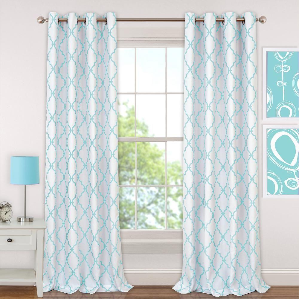 Elrene Candice Kids Blackout Window Curtain 22408aqa Panel