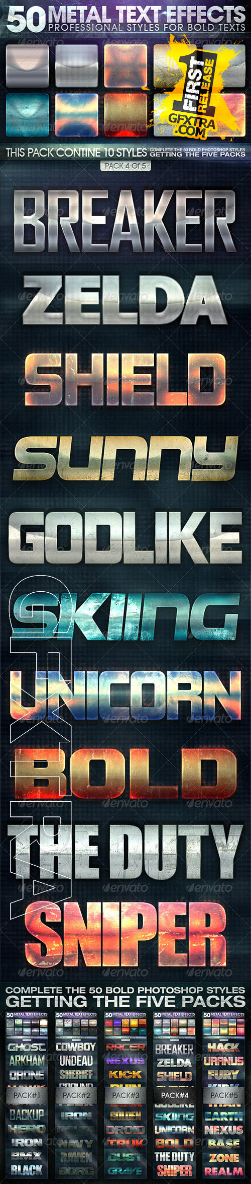 Graphicriver - 50 Metal Text Effects 4 of 5 7336802