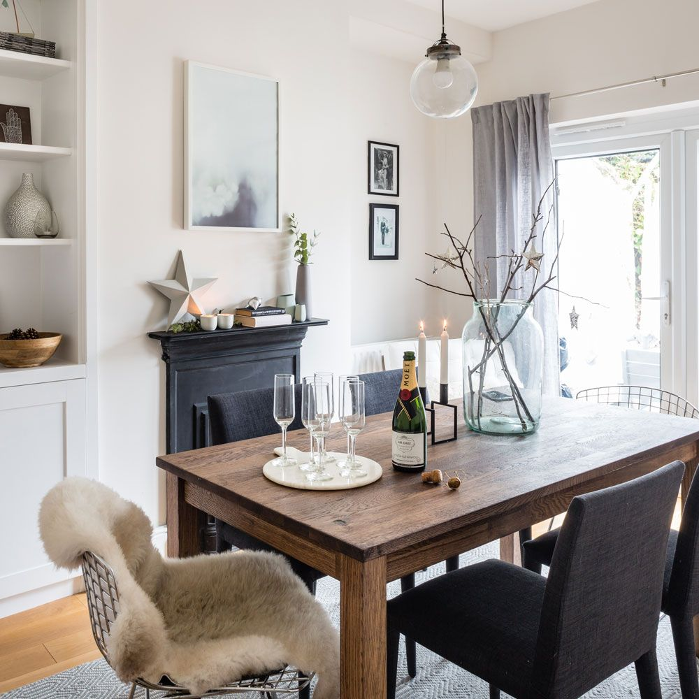 Take A Look Round This Cosy Victorian Terrace With Modern Decor Ideal Home Dining Room Victorian Dining Room Fireplace Dining Room Small Cosy dining room decor