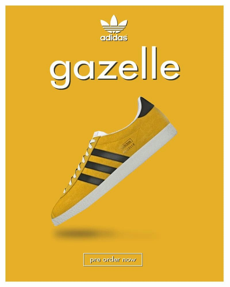Gazelle Super Yellow poster