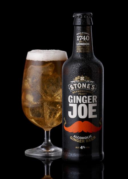 Ginger Joe beer label design & packaging