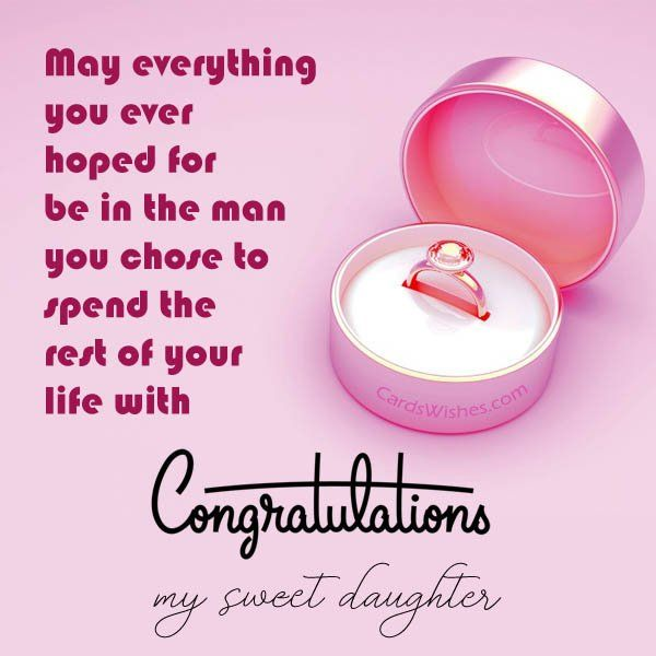 Congratulations To The Sweet Girl And The Handsome Guy Wishes For Daughter Congratulations On Getting Married Wedding Wishes