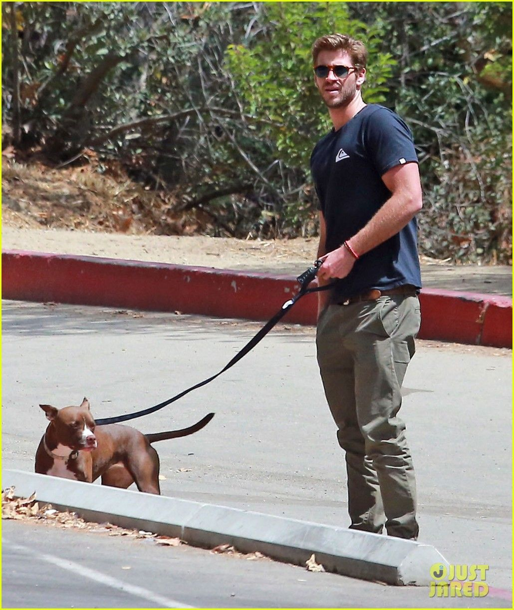 Liam Hemsworth Flexes Biceps On Set for an Upcoming Skit