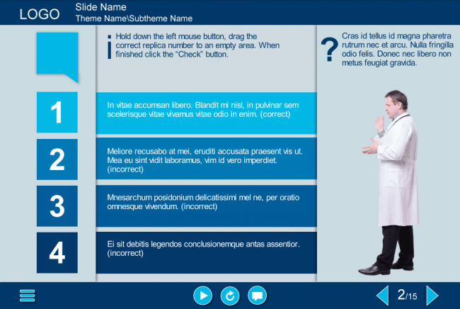 Drag And Drop Quiz Storyline Template Elearning Instructional Design Learning Design