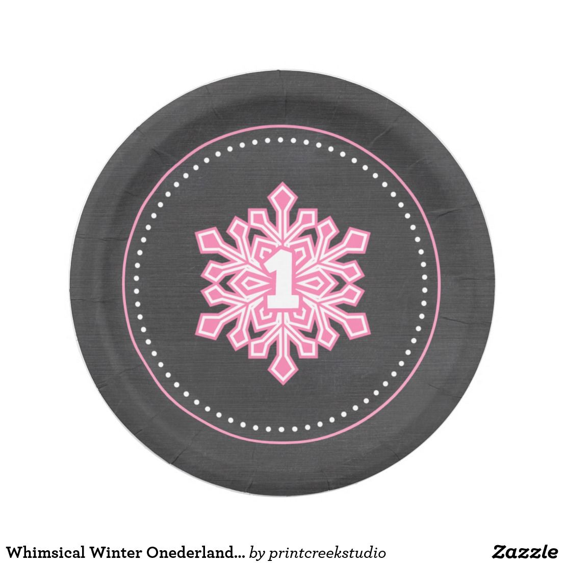Whimsical Winter Onederland Snowflake Birthday Pin Paper Plate Pink snowflake chalkboard winter themed girl 1st birthday  sc 1 st  Pinterest & Whimsical Winter Onederland Snowflake Birthday Pin Paper Plate ...
