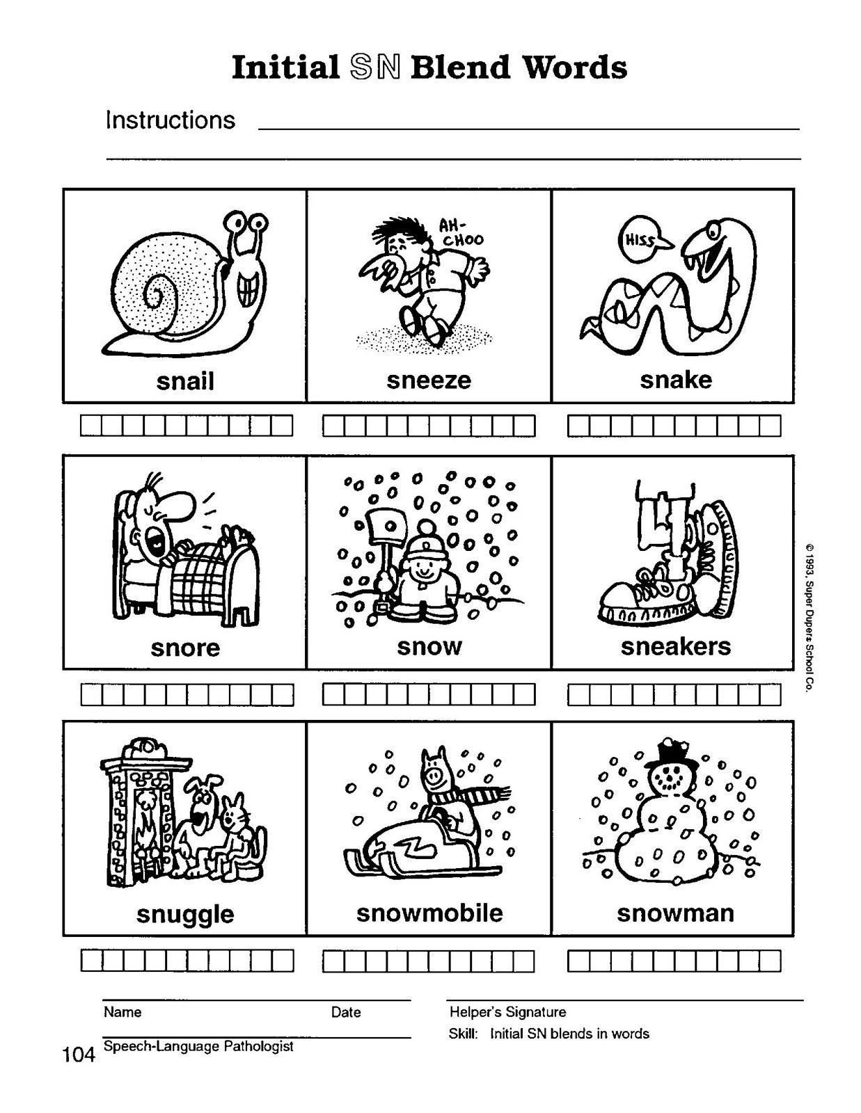 Uncategorized Blending Words Worksheets sblendsn104 jpg word families pinterest speech therapy with miss nicole s blend words