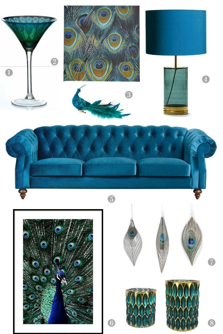 Pin On Classic Interior #peacock #decor #living #room
