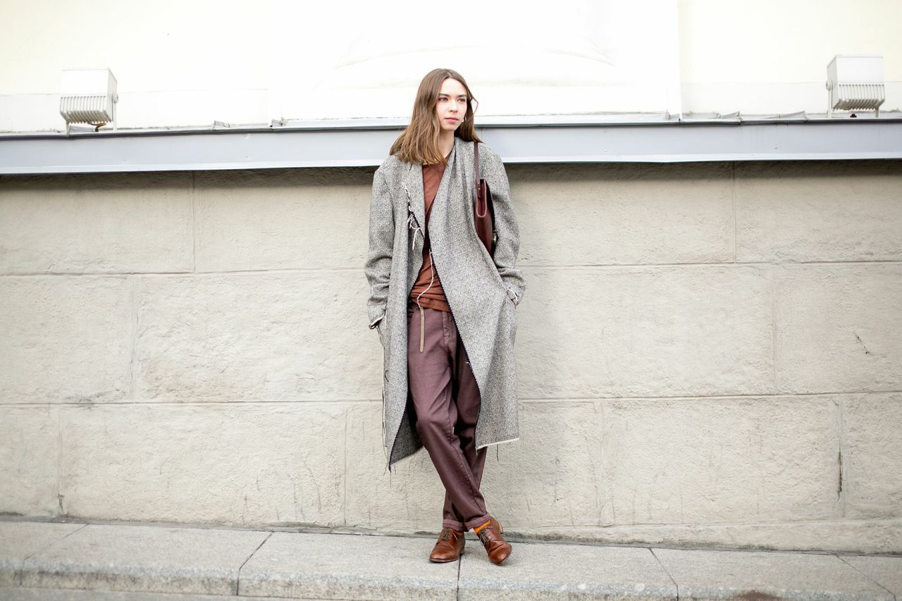 30 On-Point, Cold-Weather Looks From Moscow  #refinery29  http://www.refinery29.com/moscow-street-style#slide-12  Muted fall hues are still striking.
