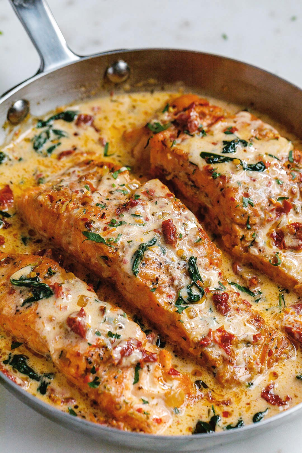Creamy Garlic Tuscan Salmon Recipe – How to Cook S