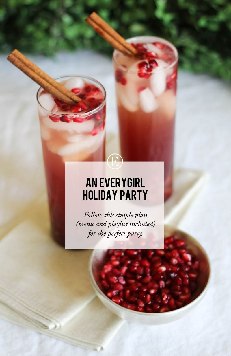 Let us plan your holiday party - drinks, treats, and music included. Cheers! #holiday #party #theeverygirl