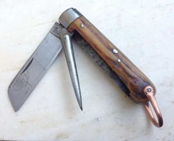 Antique Harrison Brothershowson Sailors Rope Knife By