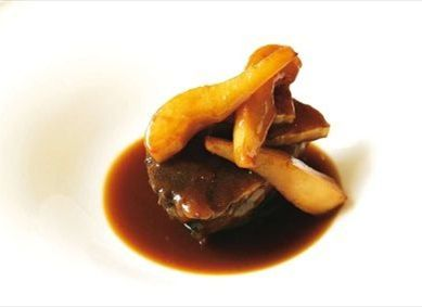 Photo of Braised bacon with pear and celeriac