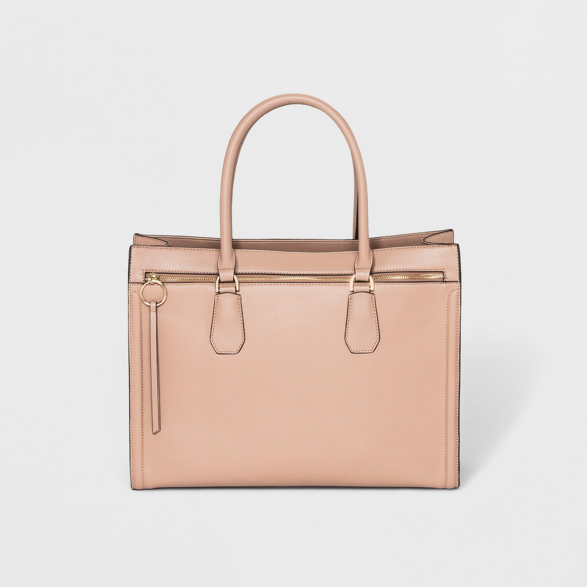 29d5adfc34cfe Ring Work Tote Handbag - A New Day Brown Clay, Women's, Size: Large ...