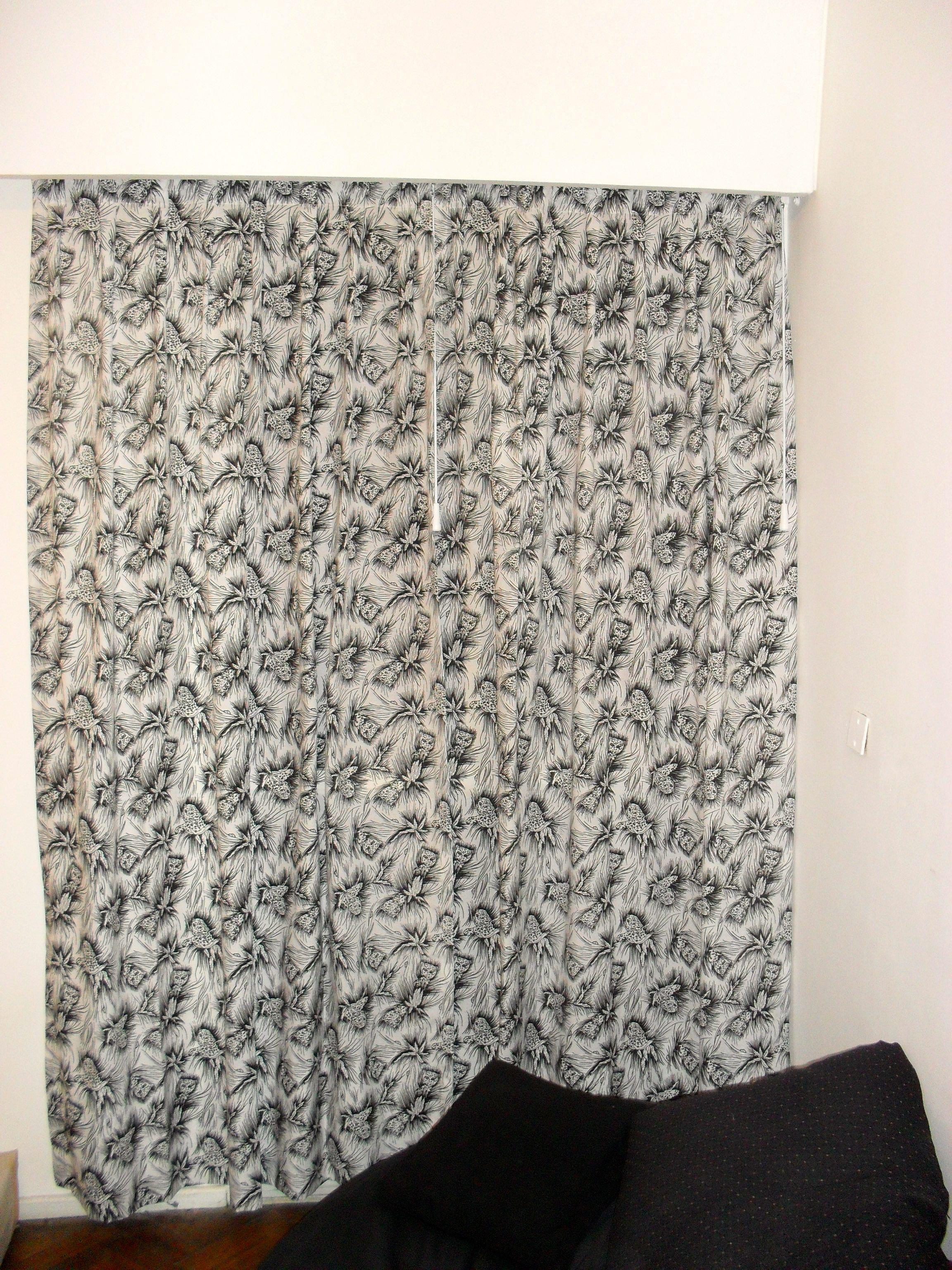 cortina animal print tela panam con cabezal de tabln encontrado y cm de