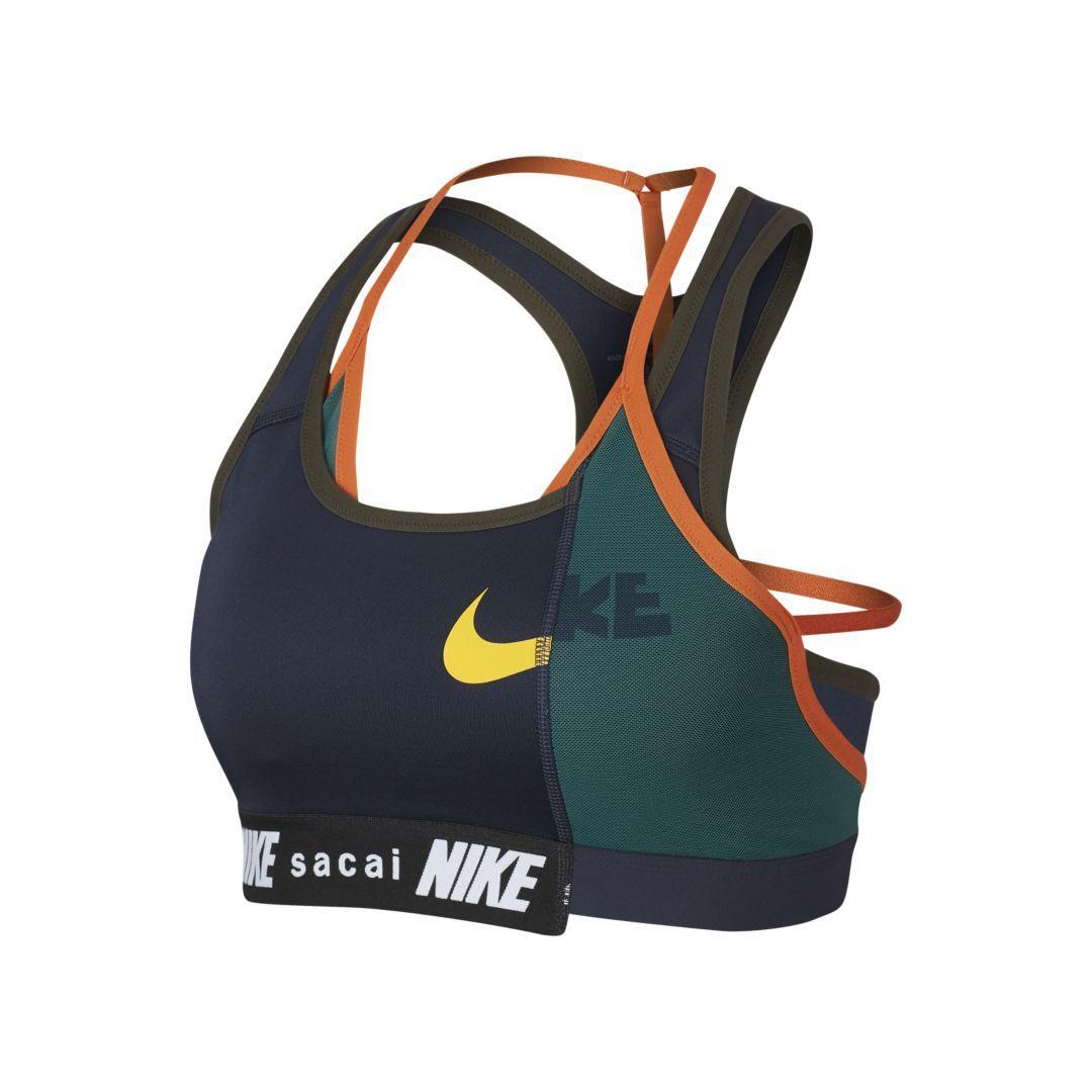 Nike x Sacai Womens Hybrid Bra (Obsidian) Women, Sacai