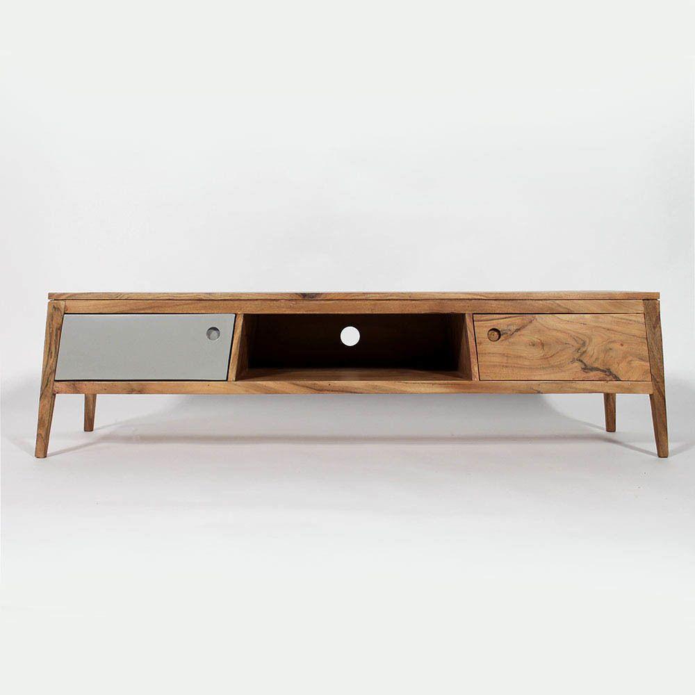Meuble tv en bois massif design meuble tv meuble tv Meuble bois moderne