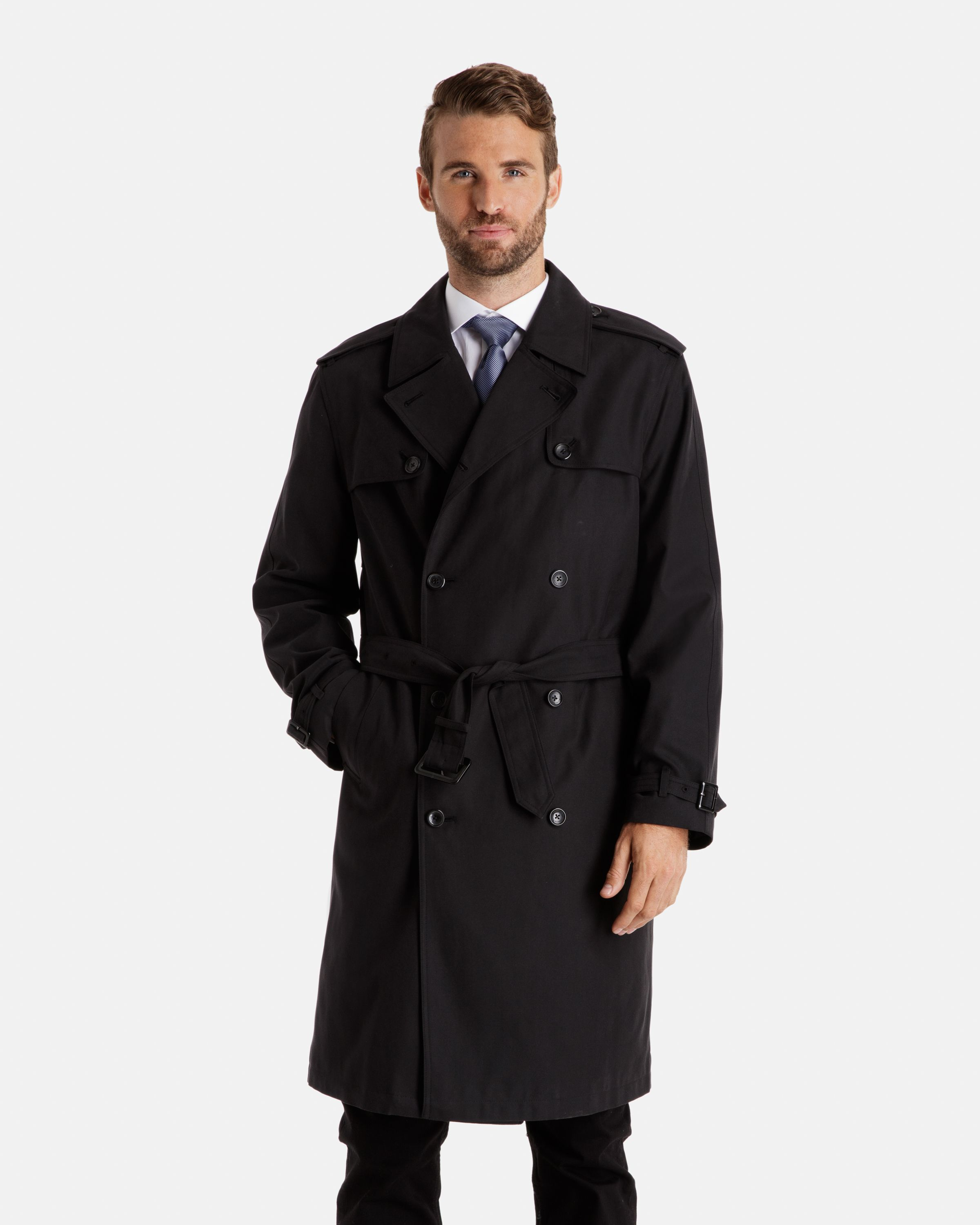 da047b3243f London Fog Plymouth Double Breasted Trench Coat with Double Gun Flap [On  Sale for $149]
