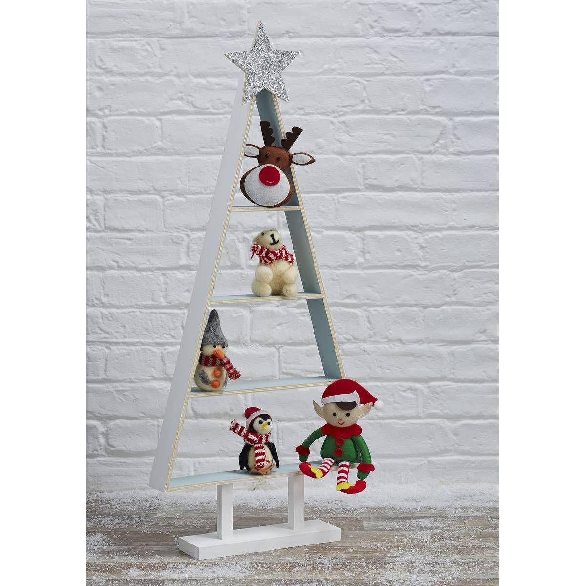 Unpainted wooden christmas tree shelf hobbycraft christmas