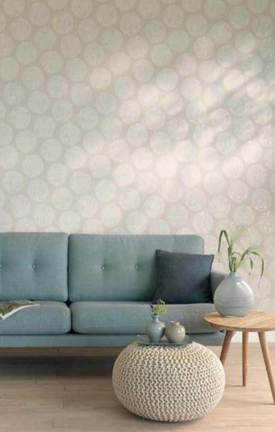 Rasch-Textil indigo-226620 Grau-Braun Beige Silber Ornament-Muster - wohnzimmer grau silber