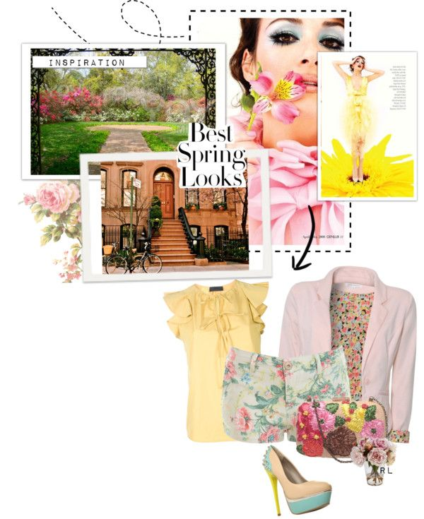 spring look, created by valentina-drulez on Polyvore