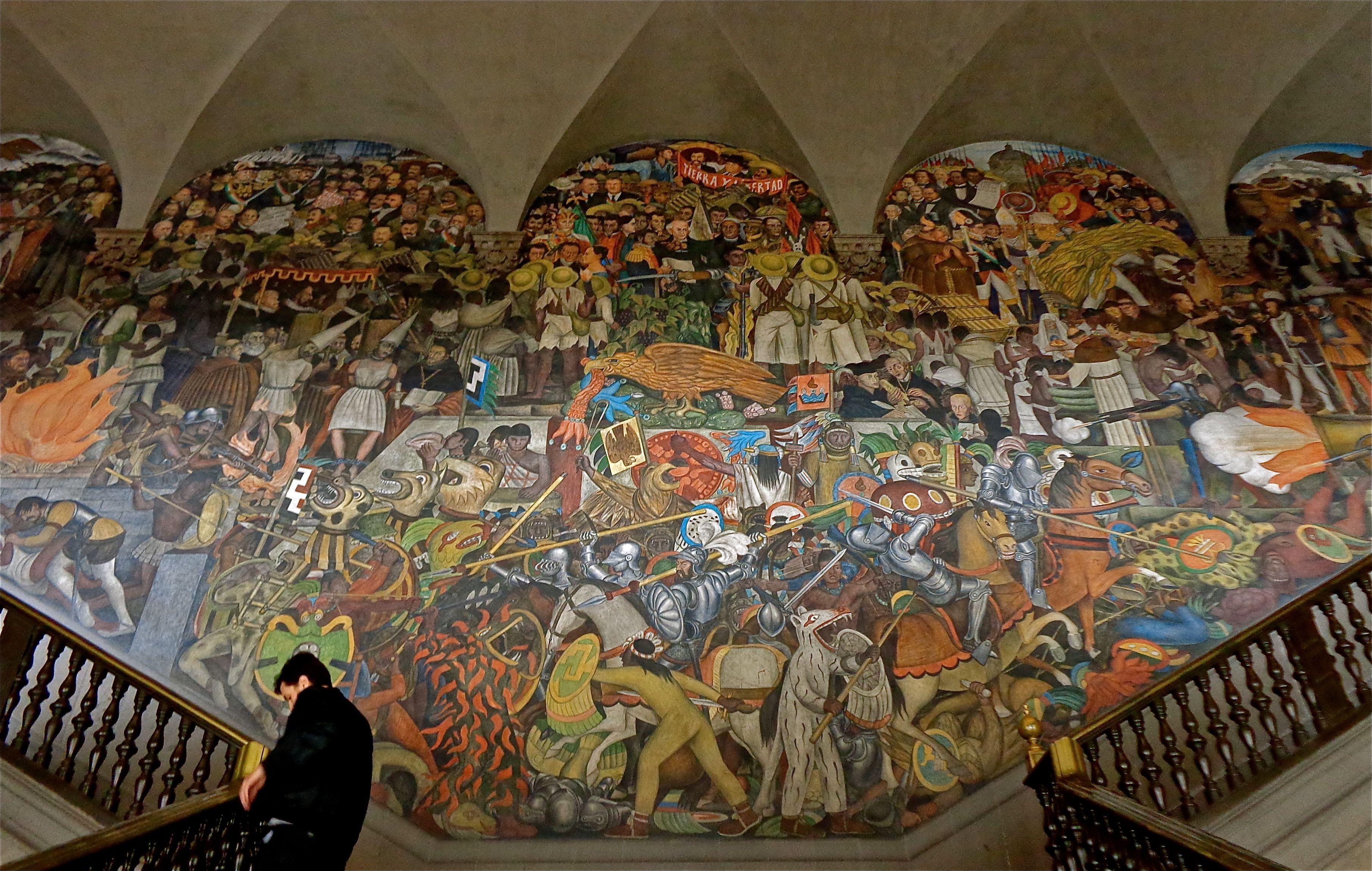 Diego Rivera Murals Palacio Nacional De Mexico Murales