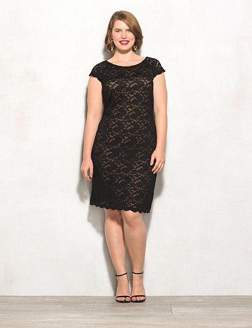 Plus Size Scalloped Lace Dress | dressbarn | bridesmaids | Plus size ...