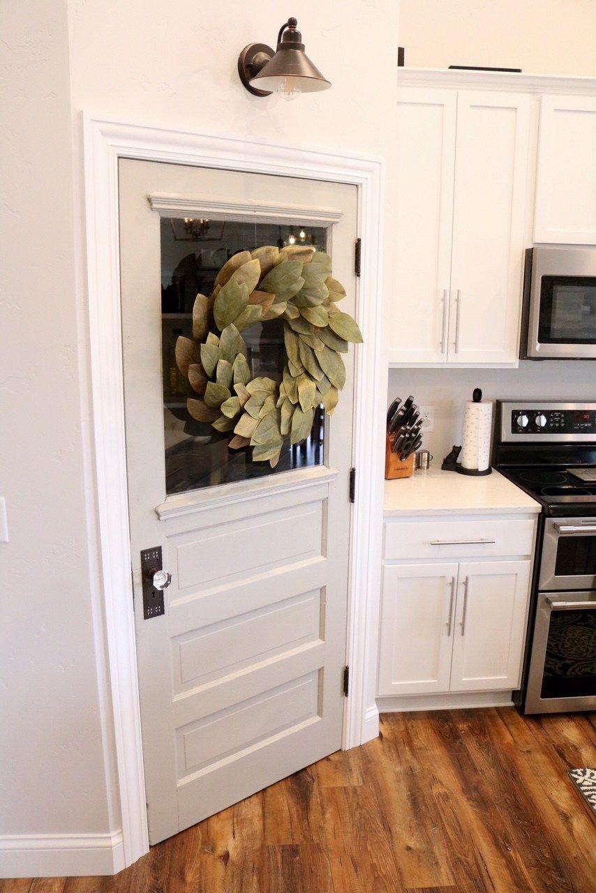 Modern Farmhouse Kitchen Reveal Sugar Maple Notes Farmhouse Pantry Rustic Pantry Door Modern Farmhouse Kitchens
