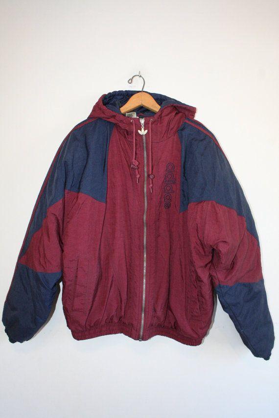 ADIDAS COAT size medium 90s puffy winter coat